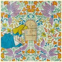 Porta - Alice - Jardim secreto