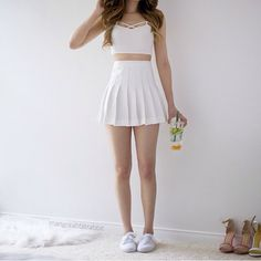 Perfect summer outfits for teen girls like you Only Fashion, Teen Fashion, Korean Fashion, Fashion Outfits, Skirt Outfits, Cool Outfits, Casual Outfits, Casual Dresses, Summer Outfit For Teen Girls