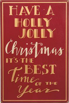 Item # 29034   Box Sign - Holly Jolly Cmas   Primitives by Kathy