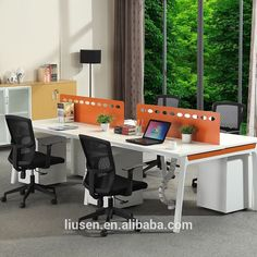 High Quality Cheap Office Furniture China Melamine Board 4 Person Open Office  Partition