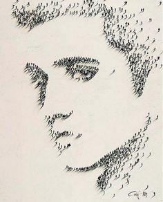 Elvis done in People Art.
