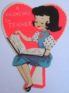Vintage Greeting Card Valentineu0027s Day Children Girl Unused A Meri Card J203  | EBay | Craft Ideas | Pinterest | Vintage Greeting Cards, Child And Vintage