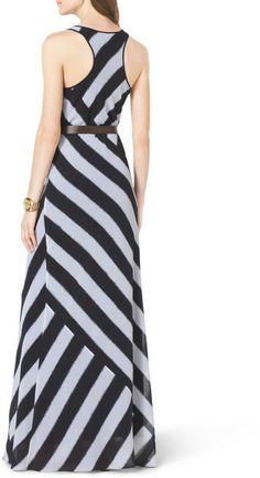 Striped Racerback Maxi Dress @Lyst