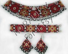 With love from Ukraine by koraliky Beaded Jewelry, Jewelry Necklaces, Handmade Jewelry, Beaded Necklace, Unique Jewelry, Bracelets, Handmade Gifts, Hama Beads, Glass Beads