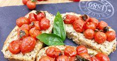Tomates cerises gourmandes confites au four Four, Bruschetta, Ethnic Recipes, Balsamic Vinegar, Brazilian Cuisine, Italian Dishes