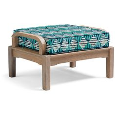 Cassara Ottoman with Cushion in Weathered Finish - Downtown Dash... ($749) ❤ liked on Polyvore featuring home, outdoors, patio furniture, all weather patio furniture, all weather outdoor furniture, frontgate, frontgate outdoor furniture and waterproof outdoor furniture