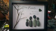 Familie Kiesel-Kunst von SDCreations0813 auf Etsy