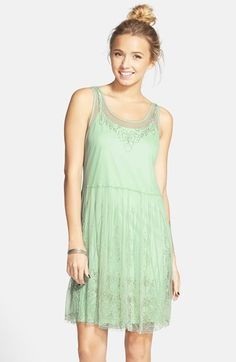 Frenchi® Beaded Tank Dress (Juniors) available at #Nordstrom