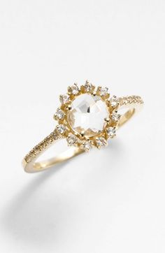 Gorgeous! Round Antique Bezel Ring by  Suzanne Kalan ($770) | Splurge-Worthy Gifts | THE MINDFUL SHOPPER