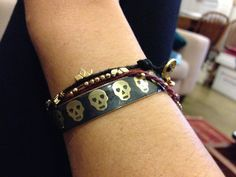 My personal style - Dogeared lotus and Irish linen bracelets with Mercedes Salazar skull cuff.