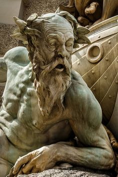 greek statue Detail of a fountain at the corner of the Hofburg, Vienna. Art Sculpture, Bronze Sculpture, Sculptures, Ancient Greek Sculpture, Greek Statues, Arte Judaica, Classical Art, Art And Architecture, Art History