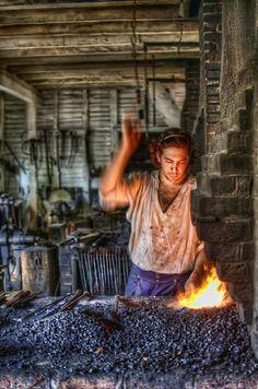 Blacksmith - Colonial WIlliamsburg, Virginia
