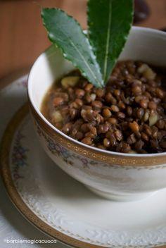 Zuppa di lenticchie e castagne - lentil and chestnut soup