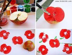 stempelen met appels