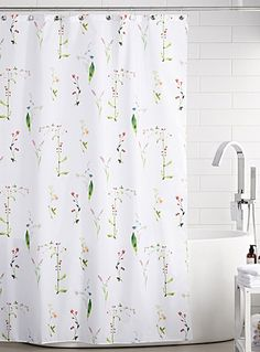 exclusively from simons maison beautiful stylized field of flowers for an ultra trendy bathroom in soft bathroom shower