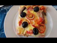 PIZZA PE FELII DE PAINE CU OUA, SUNCA ,MOZZARELLA,ROSII SI MASLINE - YouTube Stromboli, Calzone, Pizza, Pepperoni, Mozzarella, Cooking, Youtube, Salads, Kitchen