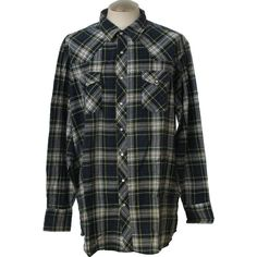 Wrangler 90's Vintage Western Shirt: 90s -Wrangler- Mens navy blue,... ($25) ❤ liked on Polyvore featuring men's fashion, men's clothing, men's shirts, men's casual shirts, tops, shirts, flannel, button-ups, mens tall shirts and mens button down shirts
