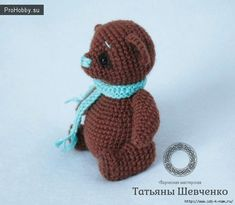 Free bear pattern in Russian Crochet For Boys, Crochet Bear, Crochet Patterns Amigurumi, Cute Crochet, Amigurumi Doll, Crochet Dolls, Felting Tutorials, Stuffed Toys Patterns, Yarn Crafts