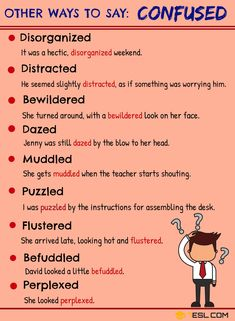 This list below shows different ways to say Confused in English with example sentences. Learn these synonyms for confused with ESL picture to enhance your vocabulary in English. English Writing Skills, Book Writing Tips, Learn English Grammar, English Vocabulary Words, Learn English Words, English Phrases, Grammar And Vocabulary, English Language Learning, Writing Words