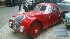 Technical museum in Prague.Red old car.I want!