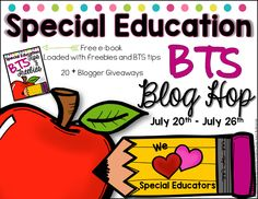 The Bender Bunch: SpEd BTS Blophop {Free e-book & Lots of Giveaways!}