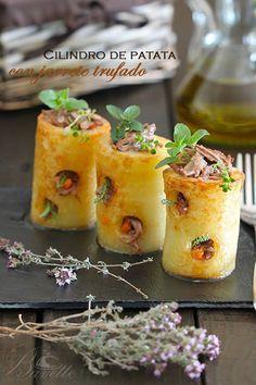 Cilindro de patata con jarrete trufadoBavette | Bavette