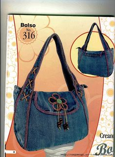 Best 10 Women's bag of jeans. Stylish bag of recycled jeans. An – SkillOfKing. Jean Purses, Purses And Bags, Bag Quilt, Denim Handbags, Denim Purse, Denim Crafts, Recycle Jeans, Recycled Denim, Quilted Bag