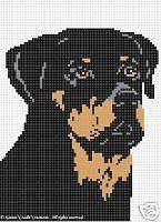 Crochet Patterns - ROTTWEILER afghan pattern in Crafts, Needlecrafts & Yarn, Crocheting & Knitting Bead Loom Patterns, Cross Stitch Patterns, Cross Stitching, Cross Stitch Embroidery, Pull Torsadé, Tunisian Crochet Stitches, Dog Pattern, Cross Stitch Animals, Afghan Crochet Patterns