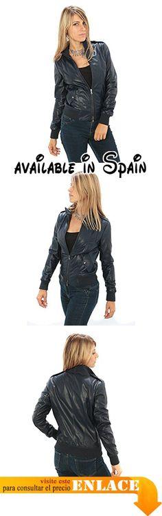 """Mujer Chaqueta de cuero auténtico """"estilo bombardero"""" Made in Italy. Chaqueta de cuero Made in Italy. chaqueta de cuero de alta calidad. Grande para las temporadas otoño-primavera. Tablas mide Descripción. Excelente relación calidad-precio #Ropa #OUTERWEAR"""