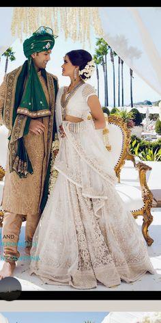 indian wedding 55 white bridal outfits be - Indian Bridal Outfits, Indian Bridal Fashion, Indian Bridal Wear, Bridal Dresses, Punjabi Wedding Dresses, Lehenga Wedding Bridal, Indian Bridal Lehenga, Sabyasachi Bride, White Bridal