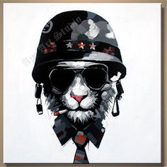 General cheetah oil painting on canvasoriginal by ApeArtStudio
