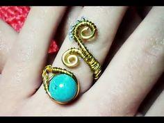 DIY anillo alambre dorado VERANO - YouTube