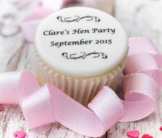 Are you interested in our personalised hen party cupcake toppers? With our hen party cake decorations you need look no further. Hen Party Cakes, Cupcake Party, Birthday Cupcakes, Fondant Cupcake Toppers, Fondant Icing, Presents For The Bride, Party Cups, Baking Cupcakes, Cake Toppings