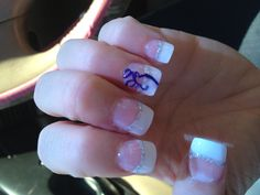 Prom nails. but with orange would be perfect!!