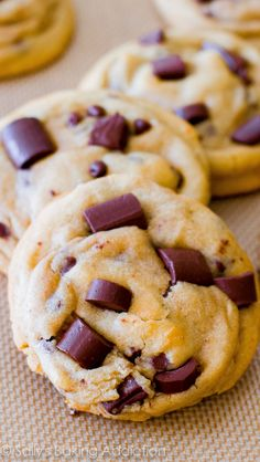 Readers constantly tell me this chocolate chip cookie is the best-ever - and I 100% agree! So chewy, so easy, no mixer!