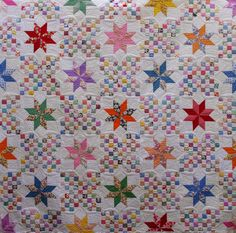 Quilts on Bastings: 1930's Vintage Le Moyne Star Quilt