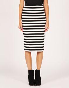 Striped Tube Skirt