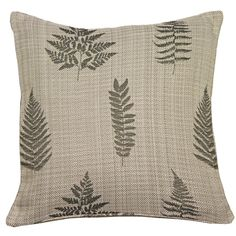 Textured leaf print cushion cover – PASX UK