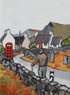David Barnes - British / born Africa (active) Going Home Art Gallery, Art Prints, Art Painting, Artist, Naive Art, Painting, British Art, Irish Art, Landscape Art