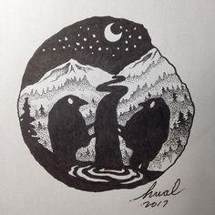 #art #illustration #crow #drawing