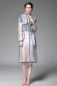 Clear raincoat with hood and zip-up styles have been proven to be popular for many decades.Clear raincoats for women come in a wide variety of designs. Girls Raincoat, Raincoat Jacket, Yellow Raincoat, Hooded Raincoat, Rain Coat Hooded, Clear Raincoat, Vinyl Raincoat, Plastic Raincoat, Jackets