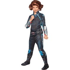 Girls Age of Ultron Deluxe Black Widow Costume - RC-610444 from Superheroes Direct