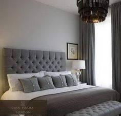 Glamorous Interiors: Gray Bedrooms