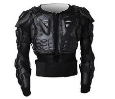 Adults Motorbike Body Guard Vest for Motocross ATV Guard Cycling Skiing Riding Skateboarding Black,One Size Motorcycle Body Armour Armor Chest Back Protector Spine Protection