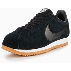 Nike Classic Cortez Suede ($60) ❤ liked on Polyvore featuring shoes, fleece-lined shoes, nike shoes, suede leather shoes, nike footwear and suede shoes