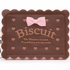 rosa braunes Biskuit Keks Portemonnaie mit Kette aus Japan  1