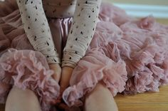 Lovely combo! Tutu from Angel's Face and tricot from Soft Gallery. Via pauletpaula.com