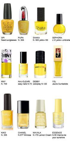 Yellow Nail Polish....