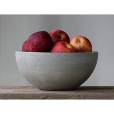 Concrete Fruit Bowl 10' ($78) ❤ liked on Polyvore featuring home, home decor, baskets & bowls, grey, home & living, home décor, grey home decor and gray home decor