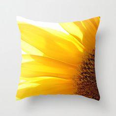 Sunfower 2 Photo Throw Pillow Throw Pillow Flower by CindiRessler   Very pretty!